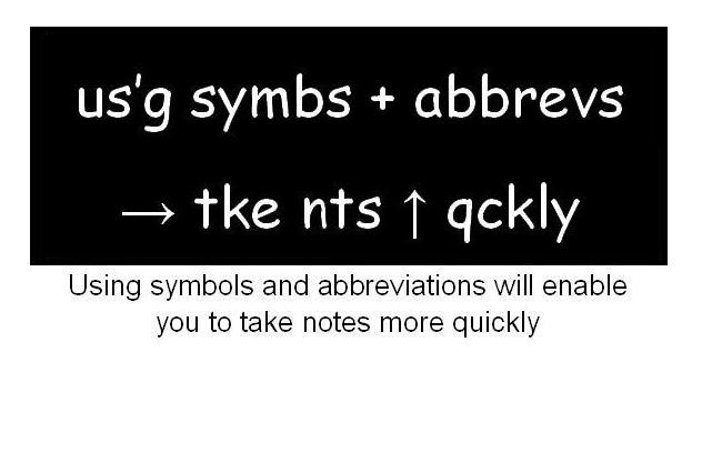 Symbols Abbreviations. Using Symbols Abbreviations How 2 Take Nts Qckly. Worksheet. Abbreviation Rules Worksheet At Clickcart.co